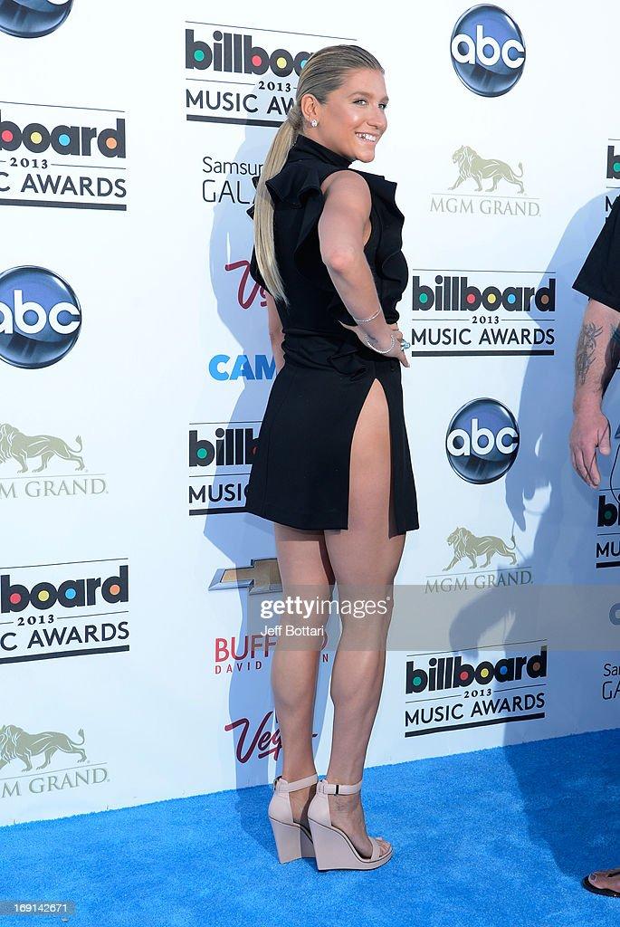 Singer Ke$ha arrives at the 2013 Billboard Music Awards at the MGM Grand Garden Arena on May 19, 2013 in Las Vegas, Nevada.