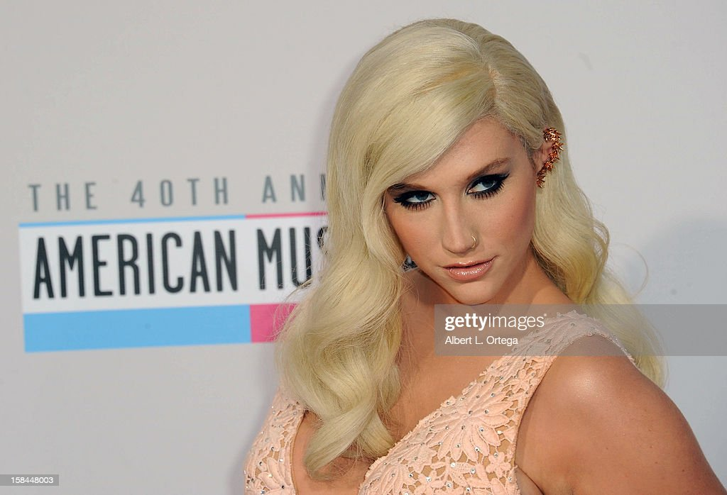 Singer Ke$ha arrives for the 40th Anniversary American Music Awards - Arrivals held at Nokia Theater L.A. Live on November 18, 2012 in Los Angeles, California.