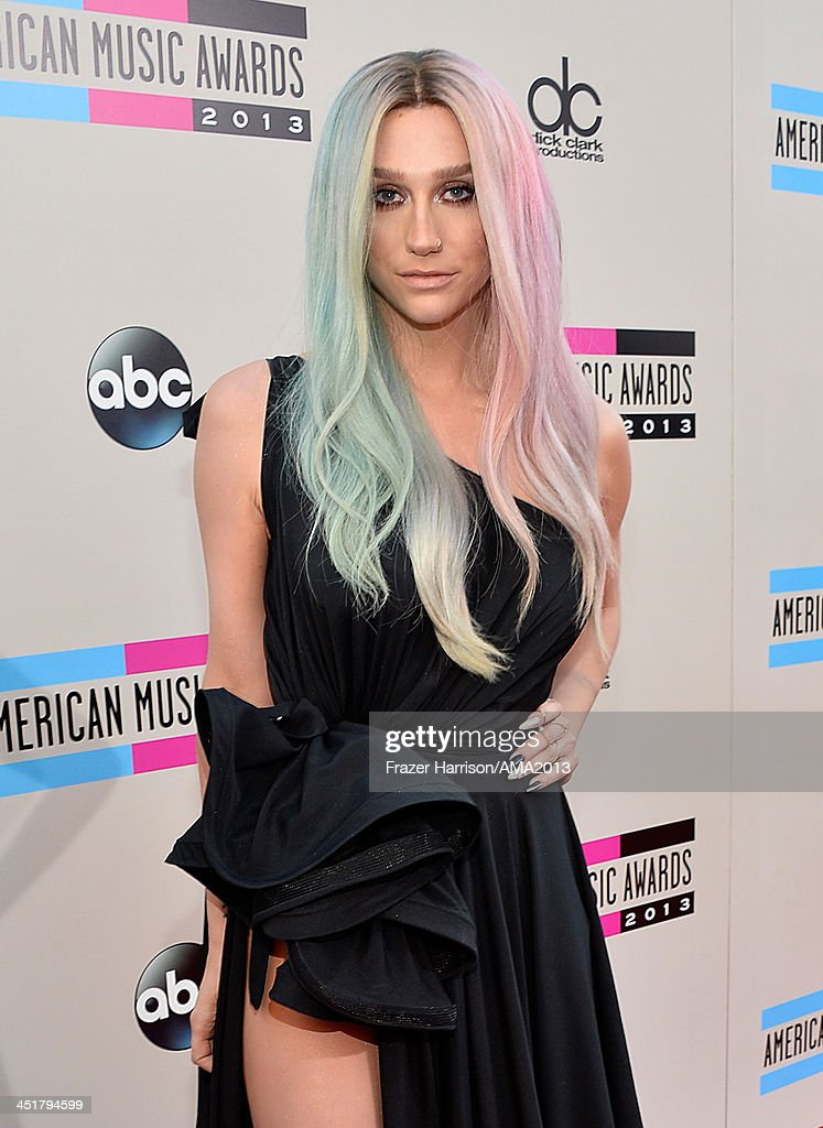 Singer Ke$ha attends 2013 American Music Awards at Nokia Theatre LA Live on November 24 2013 in Los Angeles California