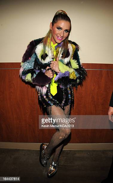 Singer Ke$ha attends Nickelodeon's 26th Annual Kids' Choice Awards at USC Galen Center on March 23 2013 in Los Angeles California
