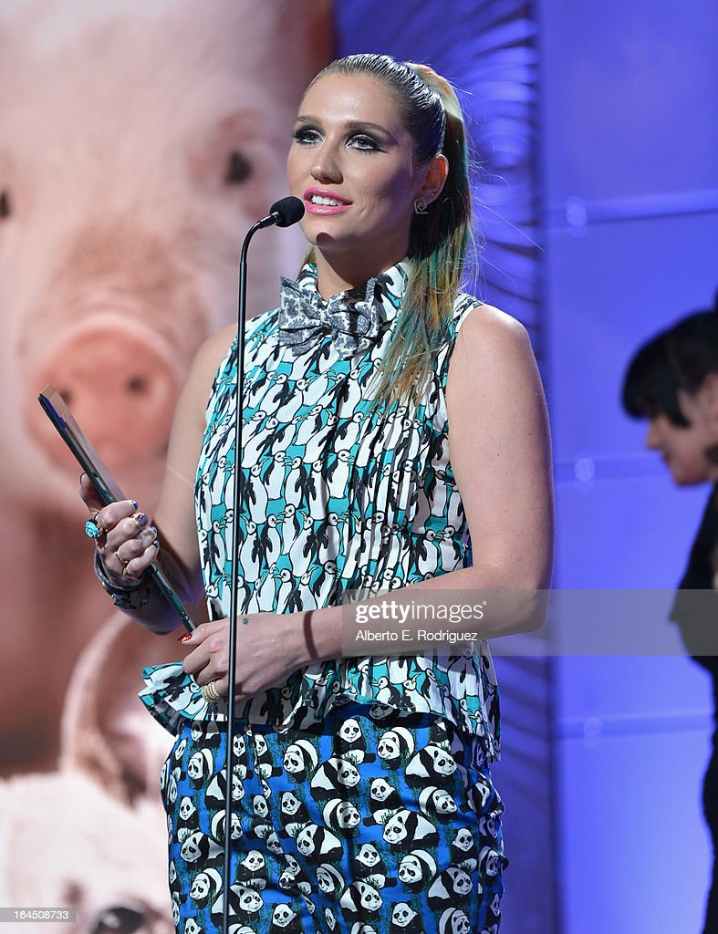 Singer Ke$ha attends the 2013 Genesis Awards Benefit Gala at The Beverly Hilton Hotel on March 23, 2013 in Beverly Hills, California.