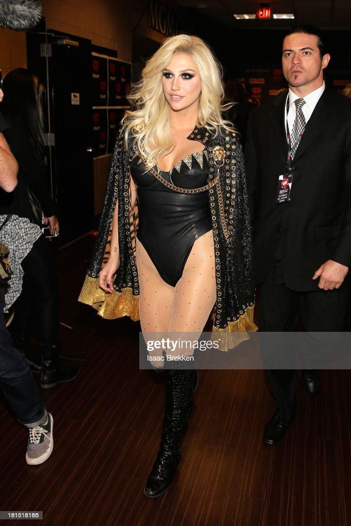 Singer Ke$ha attends the iHeartRadio Music Festival at the MGM Grand Garden Arena on September 21, 2013 in Las Vegas, Nevada.