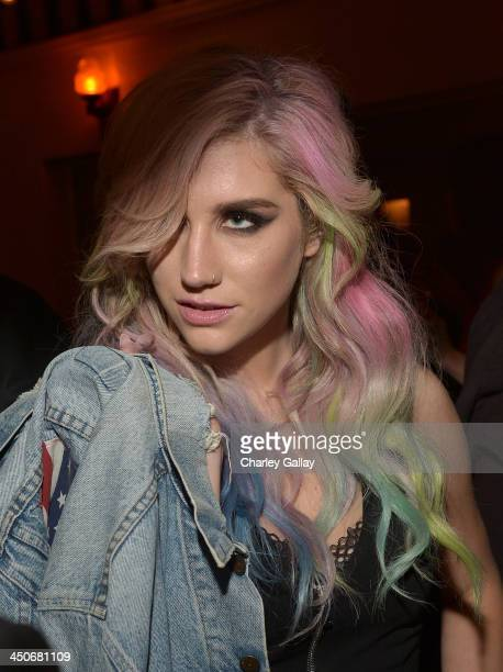 Singer Ke$ha attends the launch celebration of the Banana Republic L'Wren Scott Collection hosted by Banana Republic L'Wren Scott and Krista Smith at...