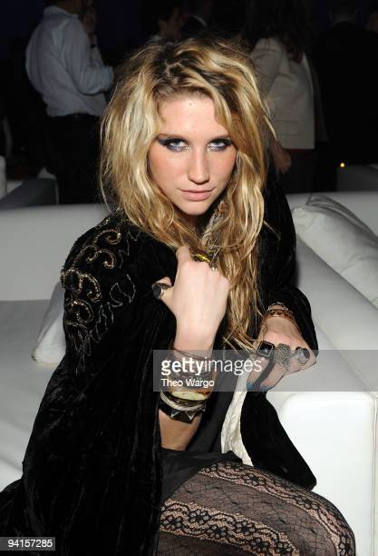 Singer Ke$ha attends the launch of VEVO the world's premiere destination for premium music video and entertainmentat Skylight Studio on December 8...