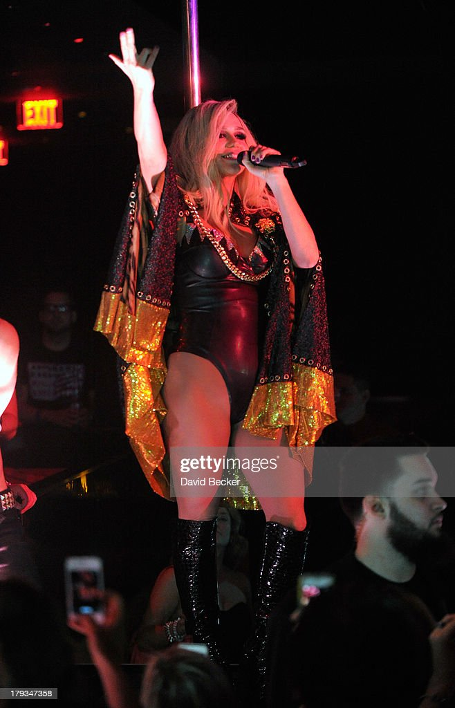 Singer <a gi-track='captionPersonalityLinkClicked' href=/galleries/search?phrase=Ke%24ha&family=editorial&specificpeople=6718222 ng-click='$event.stopPropagation()'>Ke$ha</a> performs during a Labor Day weekend party at 1 OAK Nightclub at The Mirage Hotel & Casino on September 1, 2013 in Las Vegas, Nevada.