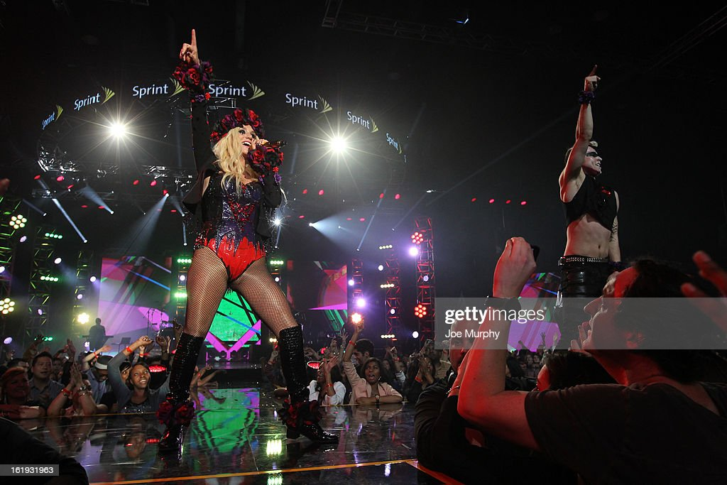 Singer Ke$ha performs during the Sprint NBA All-Star Pregame Concert in Sprint Arena during the NBA All-Star Weekend on February 17, 2013 at the George R. Brown Convention Center in Houston, Texas.