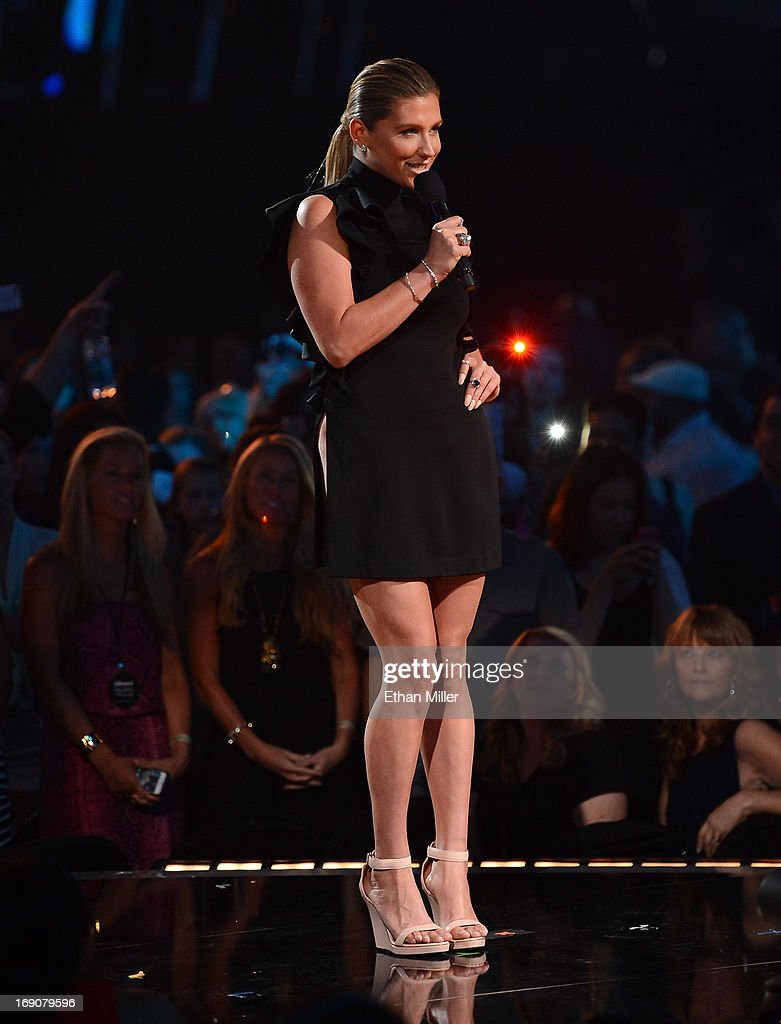Singer Ke$ha speaks onstage during the 2013 Billboard Music Awards at the MGM Grand Garden Arena on May 19, 2013 in Las Vegas, Nevada.