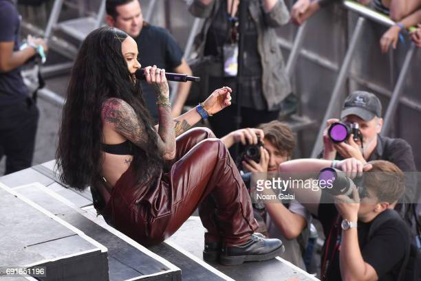Singer Kehlani performs onstage during the 2017 Governors Ball Music Festival Day 1 at Randall's Island on June 2 2017 in New York City