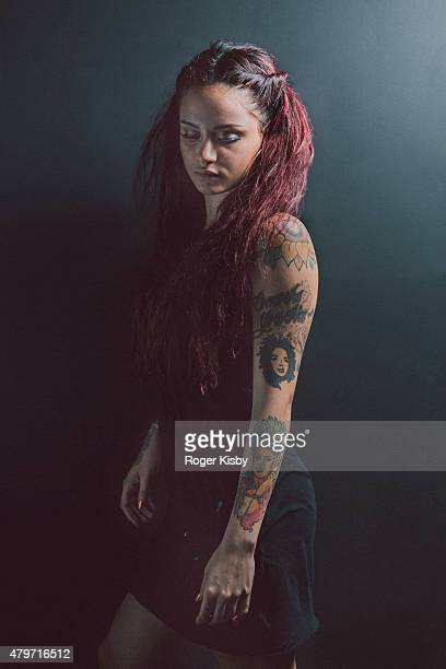 Singer Kehlani poses for a portrait backstage at The FADER FORT Presented by Converse during SXSW on March 20 2015 in Austin Texas