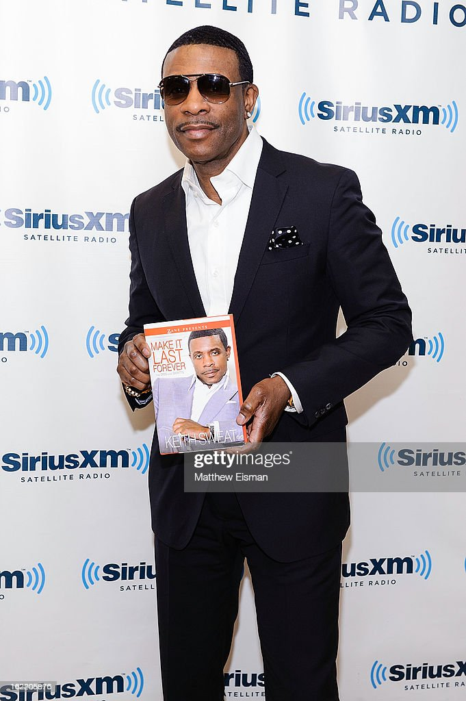 Singer <a gi-track='captionPersonalityLinkClicked' href=/galleries/search?phrase=Keith+Sweat&family=editorial&specificpeople=3747562 ng-click='$event.stopPropagation()'>Keith Sweat</a> visits SiriusXM Studios on February 20, 2013 in New York City.
