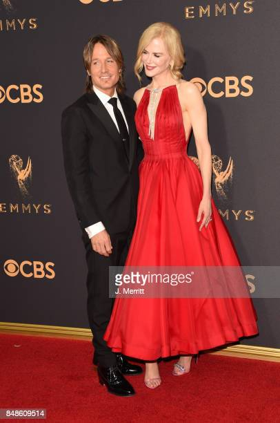Singer Keith Urban and actor Nicole Kidman attend the 69th Annual Primetime Emmy Awards at Microsoft Theater on September 17 2017 in Los Angeles...