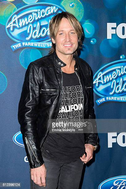 Singer Keith Urban attends Meet Fox's 'American Idol XV' Finalists at The London Hotel on February 25 2016 in West Hollywood California
