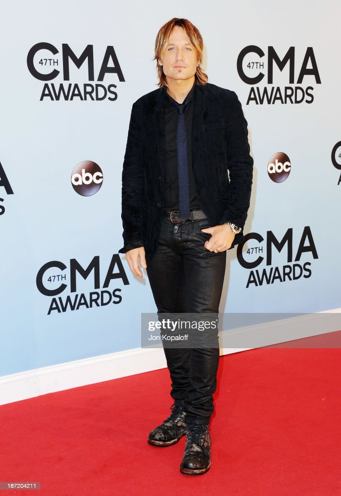 Singer Keith Urban attends the 47th annual CMA Awards at the Bridgestone Arena on November 6, 2013 in Nashville, Tennessee.