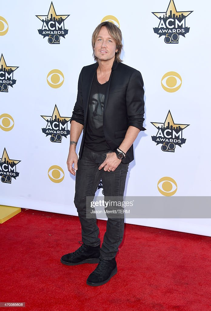 Singer Keith Urban attends the 50th Academy of Country Music Awards at ATT Stadium on April 19 2015 in Arlington Texas