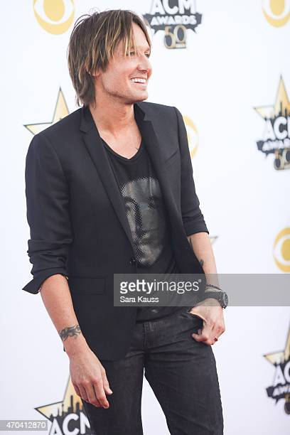 Singer Keith Urban attends the 50th Academy of Country Music Awardsat ATT Stadium on April 19 2015 in Arlington Texas