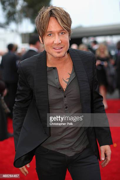 Singer Keith Urban attends the 56th GRAMMY Awards at Staples Center on January 26 2014 in Los Angeles California