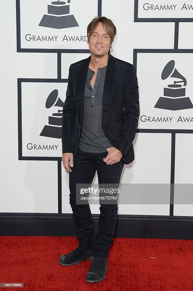 Singer Keith Urban attends the 56th GRAMMY Awards at Staples Center on January 26, 2014 in Los Angeles, California.