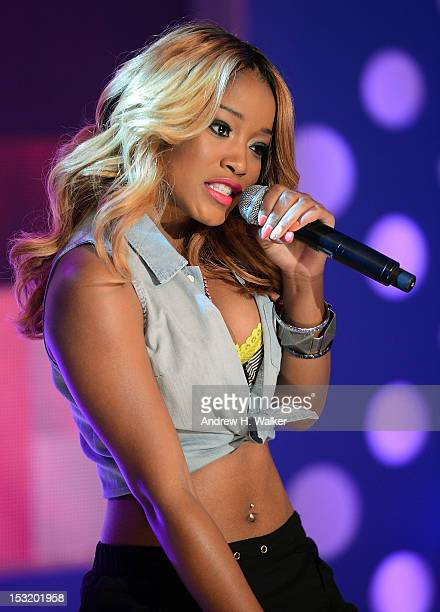 Singer Keke Palmer performs on BET's '106 Park' at BET Studios on October 1 2012 in New York City