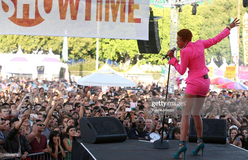 Singer Kelis attends Christopher Street West's 40th Anniversary LA PRIDE on June 12 2010 in West Hollywood California