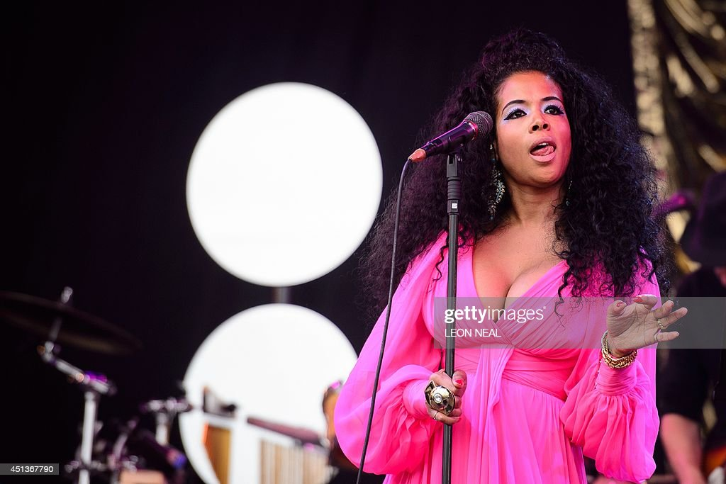 US singer Kelis performs on the Pyramid Stage, on the second day of the Glastonbury Festival of Music and Performing Arts in Somerset, southwest England, on June 28, 2014. US metal giants Metallica will play this year's coveted Saturday night headline spot at Britain's Glastonbury festival, organisers announced Thursday. It will be the 'Master of Puppets' four-piece's first appearance at the legendary festival, held in south west England, following on from The Rolling Stones' Worthy Farm debut last year.