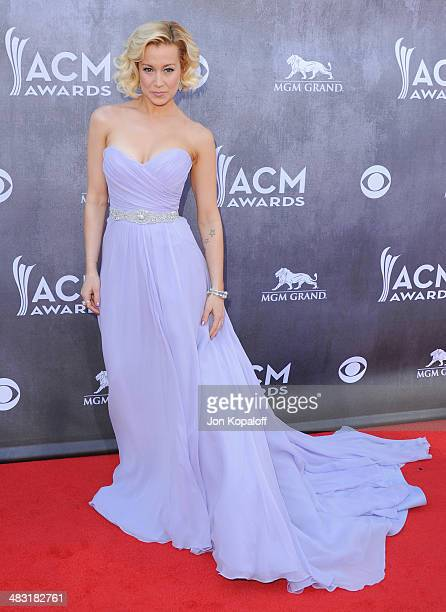 Singer Kellie Pickler arrives at the 49th Annual Academy Of Country Music Awards at the MGM Grand Hotel and Casino on April 6 2014 in Las Vegas Nevada