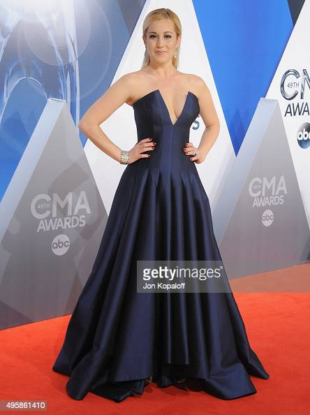 Singer Kellie Pickler attends the 49th annual CMA Awards at the Bridgestone Arena on November 4 2015 in Nashville Tennessee