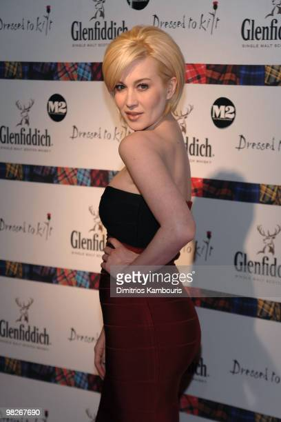 Singer Kellie Pickler attends the 8th annual 'Dressed To Kilt' Charity Fashion Show presented by Glenfiddich at M2 Ultra Lounge on April 5 2010 in...