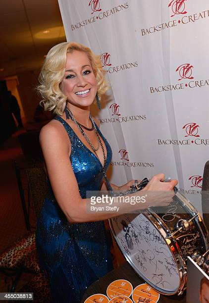 Singer Kellie Pickler attends the Backstage Creations Celebrity Retreat at the American Country Awards 2013 at the Mandalay Bay Events Center on...