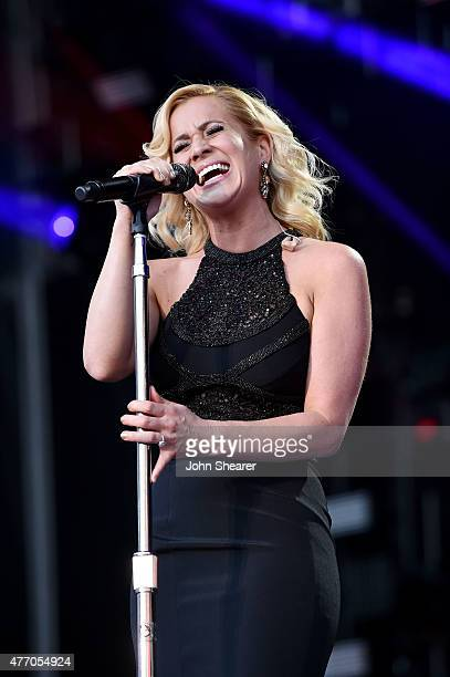 Singer Kellie Pickler performs onstage during the 2015 CMA Festival on June 13 2015 in Nashville Tennessee