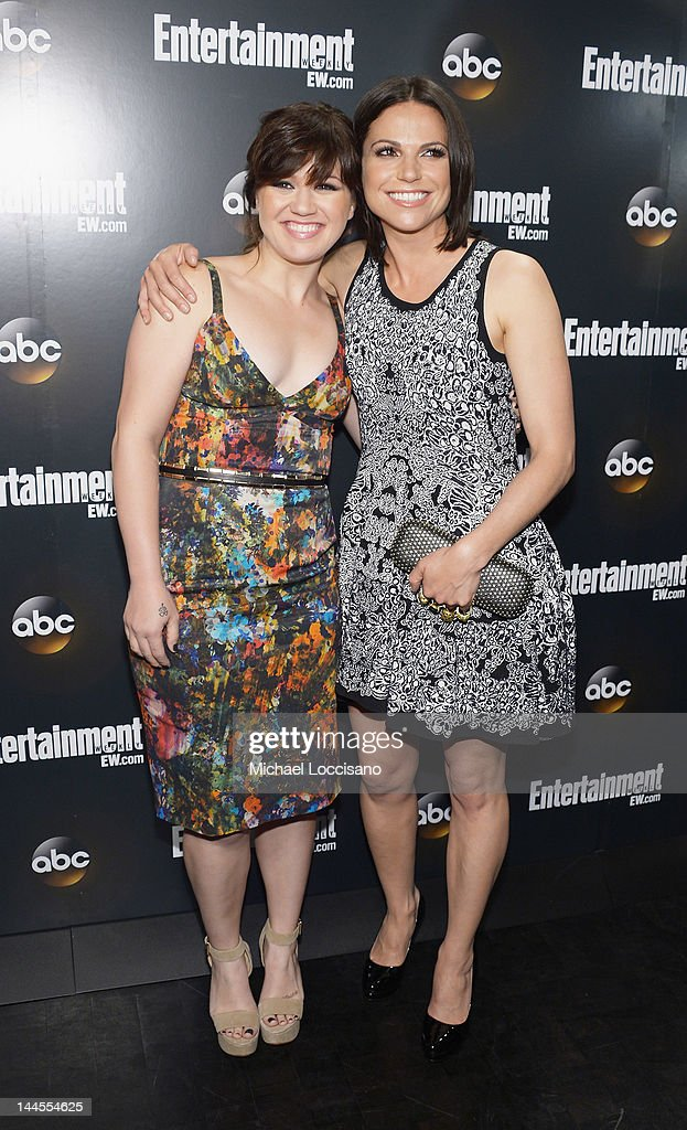 YORK, NY - MAY 15 Singer Kelly Clarkson and actress Lana Parilla attend the Entertainment Weekly & ABC-TV Up Front VIP Party at Dream Downtown on May 15, 2012 in New York City.