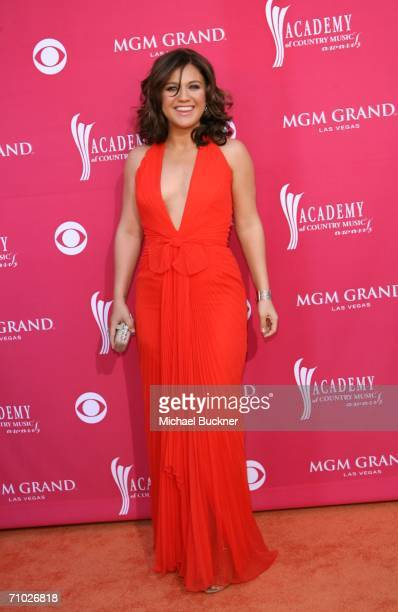 Singer Kelly Clarkson arrives at the 41st Annual Academy Of Country Music Awards held at the MGM Grand Garden Arena on May 23 2006 in Las Vegas Nevada