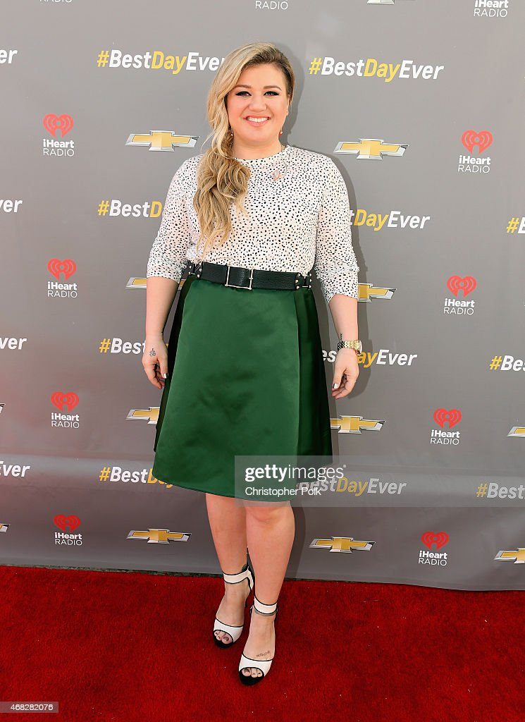 Singer Kelly Clarkson for Chevrolet's Best Day Ever with iHeartRadio at The Grove on April 1, 2015 in Los Angeles, California.