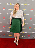 Singer Kelly Clarkson for Chevrolet's Best Day Ever with iHeartRadio at The Grove on April 1 2015 in Los Angeles California