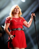 Singer Kelly Clarkson performs during the 2013 CMA Music Festival on June 8 2013 at LP Field in Nashville Tennessee
