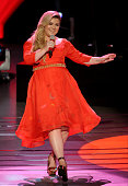 Singer Kelly Clarkson performs onstage at FOX's 'American Idol XIV' Top 8 Revealed on April 1 2015 in Hollywood California
