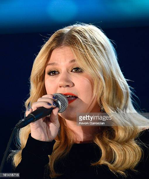 Singer Kelly Clarkson performs onstage at the 55th Annual GRAMMY Awards at Staples Center on February 10 2013 in Los Angeles California
