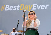 Singer Kelly Clarkson performs onstage for Chevrolet's Best Day Ever with iHeartRadio at The Grove on April 1 2015 in Los Angeles California