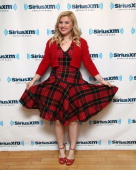 Singer Kelly Clarkson visits the SiriusXM Studios on October 8 2013 in New York City