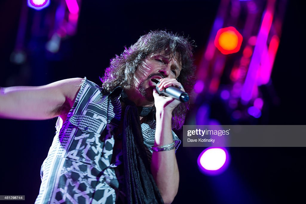 Singer Kelly Hansen of the group Foreigner performs at Prudential Center on June 26, 2014 in Newark, New Jersey.
