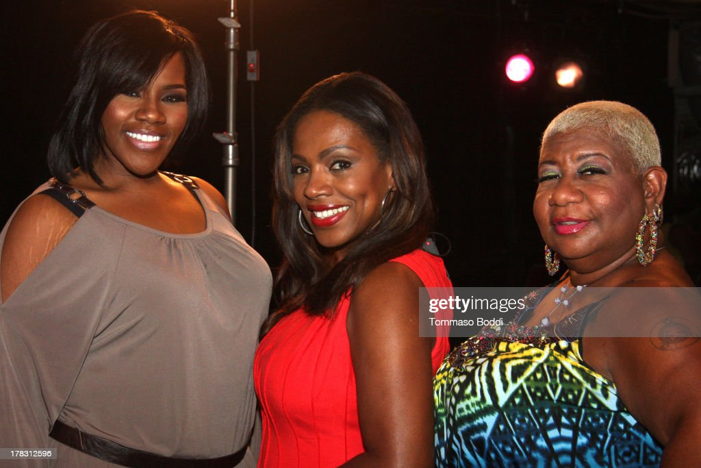 Singer Kelly Price, actress <a gi-track='captionPersonalityLinkClicked' href=/galleries/search?phrase=Sheryl+Lee+Ralph&family=editorial&specificpeople=214083 ng-click='$event.stopPropagation()'>Sheryl Lee Ralph</a> and comedian <a gi-track='captionPersonalityLinkClicked' href=/galleries/search?phrase=Luenell&family=editorial&specificpeople=2159262 ng-click='$event.stopPropagation()'>Luenell</a> attend the live casting auditions for new reality show 'Too Fat For Fame' held at The Complex Hollywood on August 28, 2013 in Los Angeles, California.