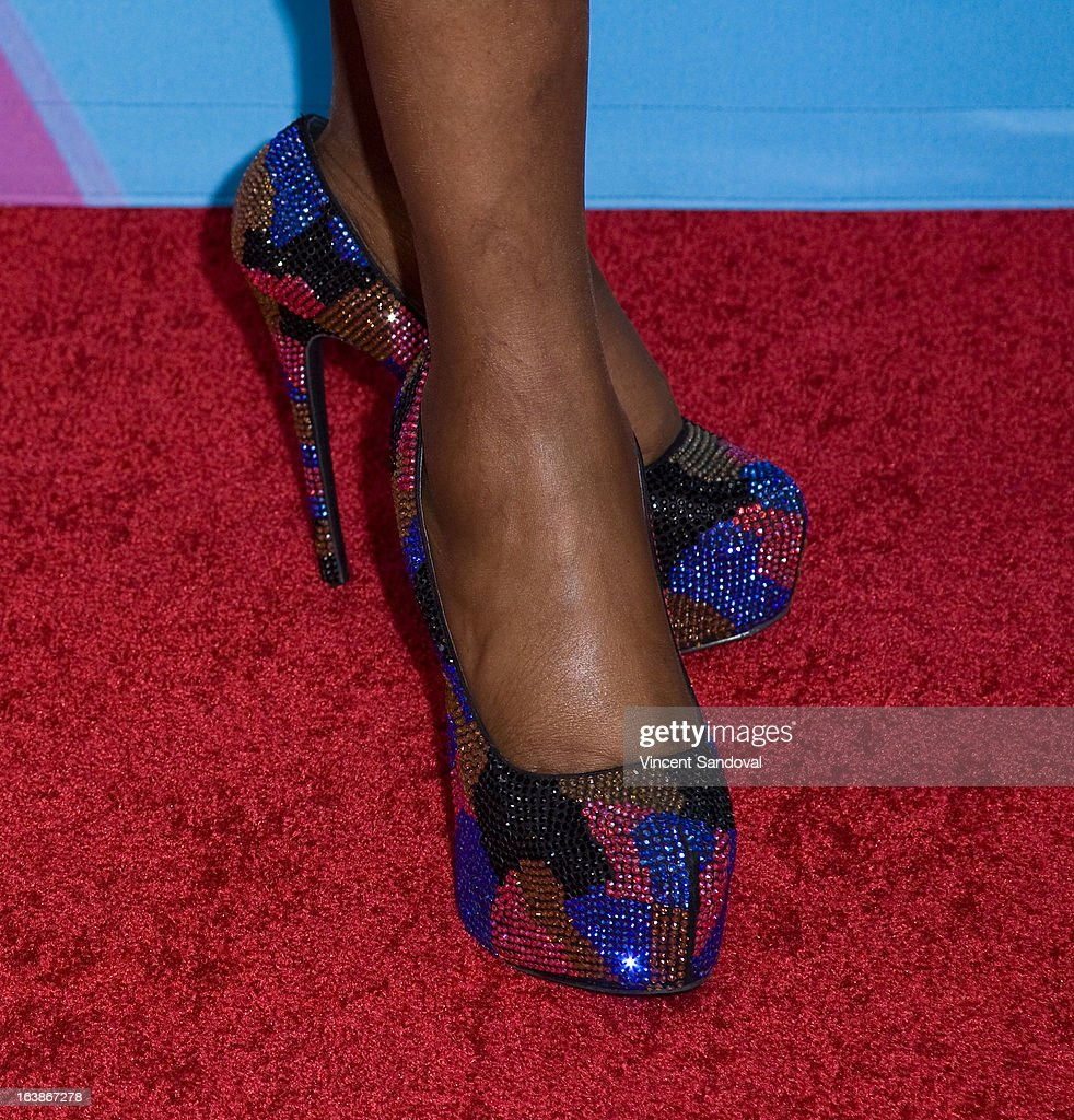 Singer Kelly Price (shoe detail) attends the BET 13th annual 'Celebration Of Gospel' at Orpheum Theatre on March 16, 2013 in Los Angeles, California.