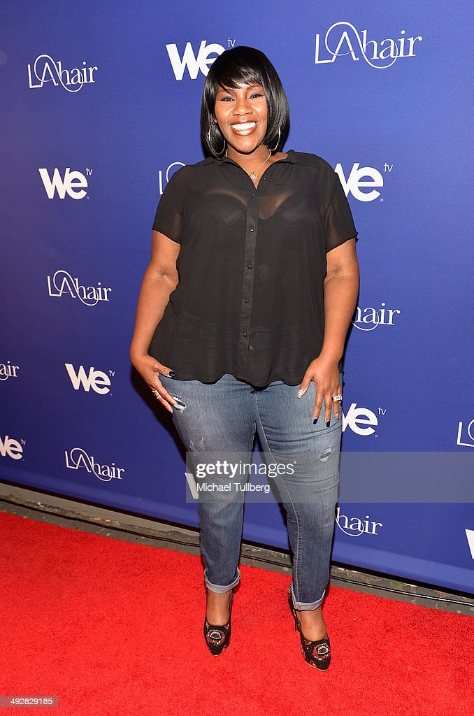 Singer Kelly Price attends the premiere event for Season 3 of LA tv's 'L.A. Hair' show at Kimble Hair Studio and Extension Bar on May 21, 2014 in Los Angeles, California.