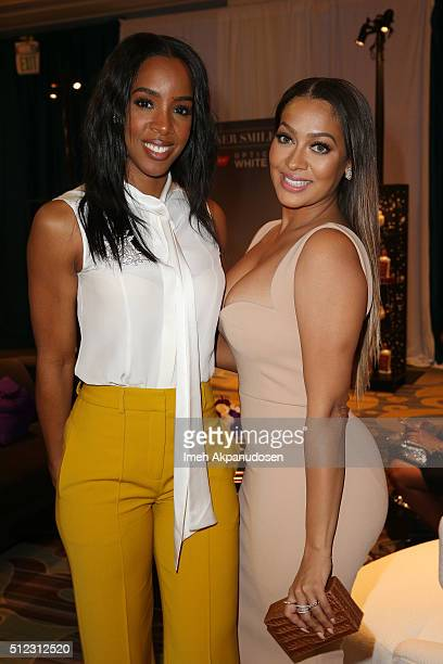 Singer Kelly Rowland and Host Lala Anthony attend the 2016 ESSENCE Black Women In Hollywood awards luncheon at the Beverly Wilshire Four Seasons...