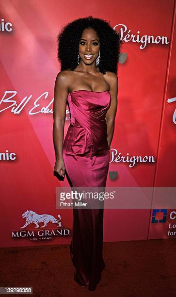 Singer Kelly Rowland arrives at the Keep Memory Alive foundation's 'Power of Love Gala' celebrating Muhammad Ali's 70th birthday at the MGM Grand...