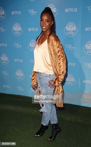 Singer Kelly Rowland attends a sneak peek of Netflix's 'True and the Rainbow Kingdom' at Pacific Theatres at The Grove on August 10 2017 in Los...