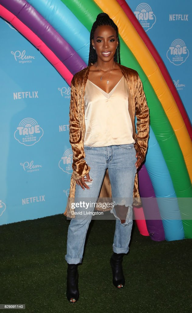 Singer Kelly Rowland attends a sneak peek of Netflix's 'True and the Rainbow Kingdom' at Pacific Theatres at The Grove on August 10, 2017 in Los Angeles, California.