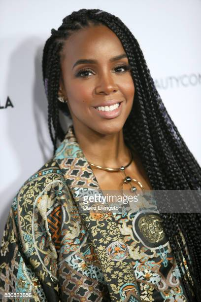 Singer Kelly Rowland attends Day 1 of the 5th Annual Beautycon Festival Los Angeles at the Los Angeles Convention Center on August 12 2017 in Los...