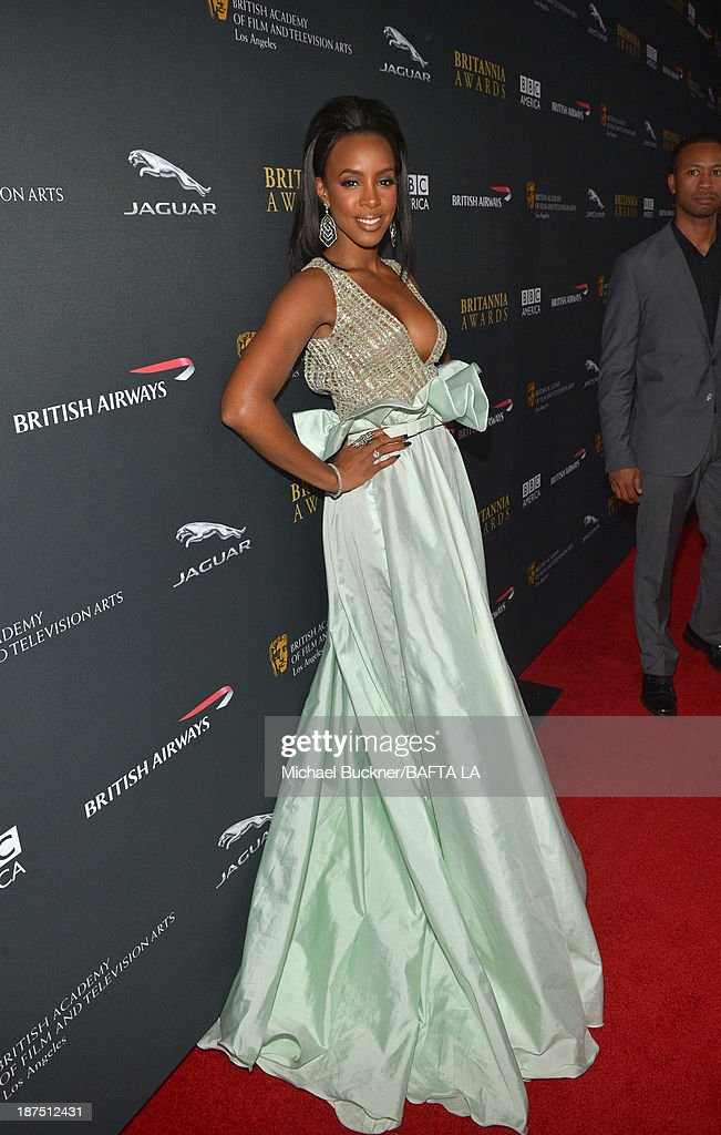 Singer <a gi-track='captionPersonalityLinkClicked' href=/galleries/search?phrase=Kelly+Rowland&family=editorial&specificpeople=201760 ng-click='$event.stopPropagation()'>Kelly Rowland</a> attends the 2013 BAFTA LA Jaguar Britannia Awards presented by BBC America at The Beverly Hilton Hotel on November 9, 2013 in Beverly Hills, California.