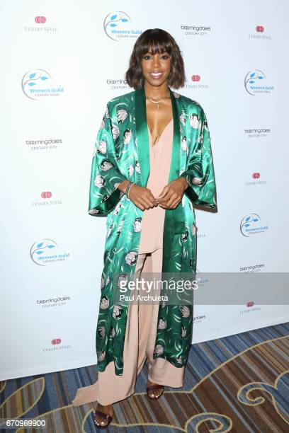 Singer Kelly Rowland attends the 2017 Women's Guild CedarsSinai annual Spring luncheon at the Beverly Wilshire Four Seasons Hotel on April 20 2017 in...