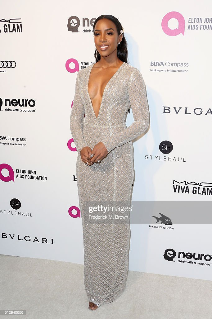 Singer Kelly Rowland attends the 24th Annual Elton John AIDS Foundation's Oscar Viewing Party on February 28 2016 in West Hollywood California
